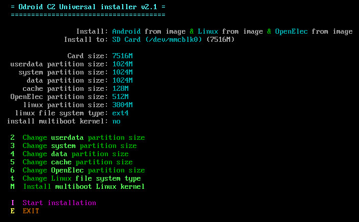 Multiboot&Universal Installer for Odroid C1, C2 and XU3/XU4