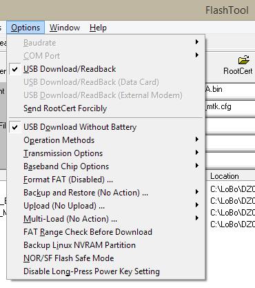 Flashing firmware using MTK FlashTools- Seeed cc